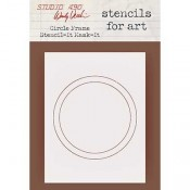 Wendy Vecchi Stencils for Art - Circle Frame Stencil-It Mask-It WVSFA059