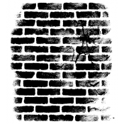Wendy Vecchi Background Stamp - Cracked Brick Wall WVBG031