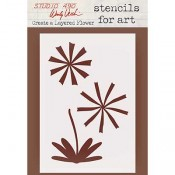 Wendy Vecchi Stencils for Art - Create a Layered Flower WVSFA057