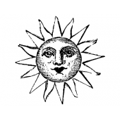 Wendy Vecchi Wood Mounted Stamp - Smiling Sun H2-2031