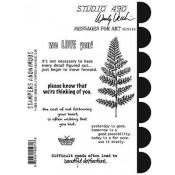 Wendy Vecchi Cling Mount Stamps - Messages For Art SCS144