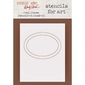 Wendy Vecchi Stencils for Art - Oval Frame Stencil-It Mask-It WVSFA060