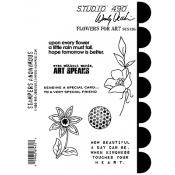 Wendy Vecchi Cling Mount Stamps - Flowers For Art SCS136