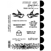 Wendy Vecchi Cling Mount Stamps - Birds For Art SCS140