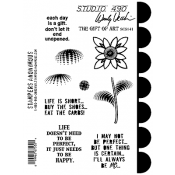 Wendy Vecchi Cling Mount Stamps - The Gift of Art SCS141