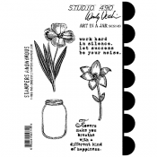 Wendy Vecchi Cling Mount Stamps - Art In a Jar SCS149