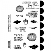 Wendy Vecchi Cling Mount Stamps - Autumn Art SCS153