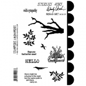 Wendy Vecchi Cling Mount Stamps - Hello Art SCS157