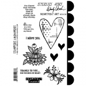 Wendy Vecchi Cling Mount Stamps - Heartfelt Art SCS158
