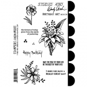Wendy Vecchi Cling Mount Stamps - Birthday Art SCS159