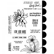 Wendy Vecchi Cling Mount Stamps - Friendship & Art SCS161