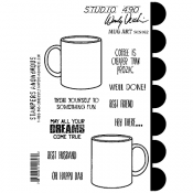 Wendy Vecchi Cling Mount Stamps - Mug Art SCS162