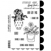Wendy Vecchi Cling Mount Stamps - A Bunch of Art SCS163
