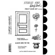 Wendy Vecchi Cling Mount Stamps: Front Door Art SCS165
