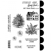 Wendy Vecchi Cling Mount Stamps: Art From Home SCS167