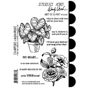 Wendy Vecchi Cling Mount Stamps: Art In a Pot SCS168