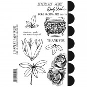 Wendy Vecchi Cling Mount Stamps: Bold Floral Art SCS170