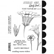 Wendy Vecchi Cling Mount Stamps: Funky Flower Art SCS173