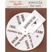 Wendy Vecchi Stencils for Art - Select-A-Sentiment Add-On WVSFA056