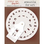 Wendy Vecchi Stencils for Art - Select-A-Stencil Lowercase WVSFA049