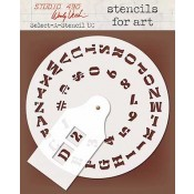 Wendy Vecchi Stencils for Art - Select-A-Stencil Uppercase WVSFA048