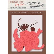 Wendy Vecchi STAMP-it Stencil-it: Spring Bouquet WVSTST022