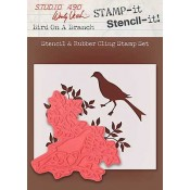 Wendy Vecchi STAMP-it Stencil-it: Bird On A Branch WVSTST023