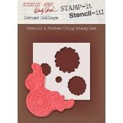 Wendy Vecchi STAMP-it Stencil-it: Corner Collage WVSTST024