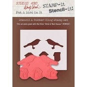 Wendy Vecchi STAMP-it Stencil-it: Put A Bird On It WVSTST025