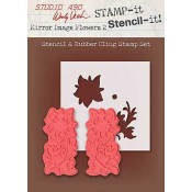 Wendy Vecchi STAMP-it Stencil-it: Mirror Flowers 2 WVSTST027