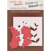 Wendy Vecchi STAMP-it Stencil-it: Leaves and Berries WVSTST033