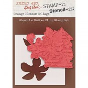 Wendy Vecchi STAMP-it Stencil-it: Orange Blossom Collage WVSTST034