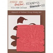 Wendy Vecchi STAMP-it Stencil-it: Wild Rose Collage WVSTST036