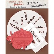Wendy Vecchi STAMP-it Stencil-it: Select A Sentiment WVSTST037
