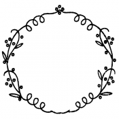 Wendy Vecchi Background Stamp - Doodle Wreath WVBG039