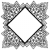 Wendy Vecchi Background Stamp: Square Doily WVBG050