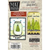 Wendy Vecchi Mat Minis: Pine Trees WVMM03