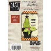 Wendy Vecchi Mat Minis: Holly and Berries WVMM04