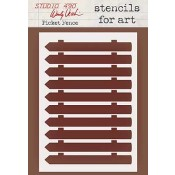 Wendy Vecchi Stencils for Art - Picket Fence WVSFA042