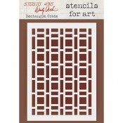 Wendy Vecchi Stencils for Art - Rectangle Grate WVSFA050