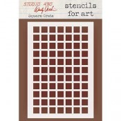 Wendy Vecchi Stencils for Art - Square Grate WVSFA051