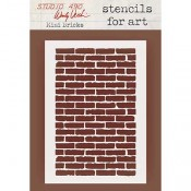 Wendy Vecchi Stencils for Art - Mini Bricks WVSFA053
