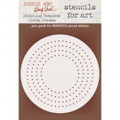 Wendy Vecchi Stencils for Art - Stitching Template Circle Frames WVSFA054