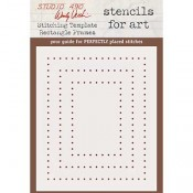 Wendy Vecchi Stencils for Art - Stitching Template Rectangle Frames WVSFA055