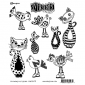 Dylusions Cling Mount Stamps - Cat Among the Pigeons DYR55471