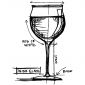 Tim Holtz Wood Mounted Stamp - Wine Glass Sketch P4-3177