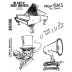 Brett Weldele Cling Mount Stamps - Music Man BWC003