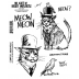 Brett Weldele Cling Mount Stamps - Mister Meow Meow & Tweets McGee BWC008