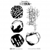 Dina Wakley Media Cling Mount Stamps: For The Love of Circles MDR63865