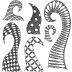 Dylusions Cling Mount Stamps - Doodled Delight DYR40927